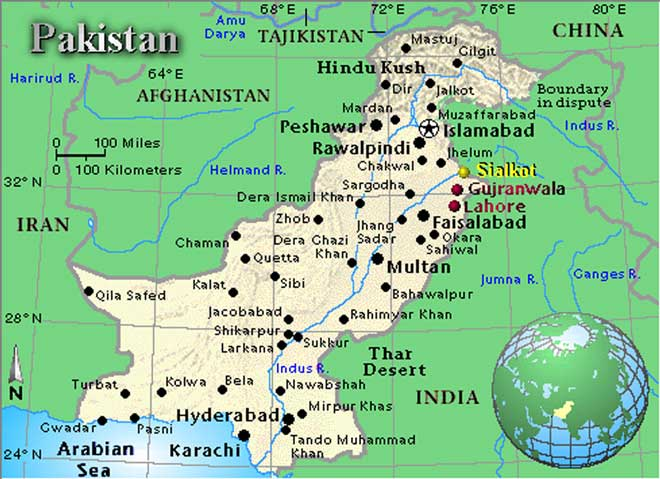 Pakistan Map - Map of pakistan